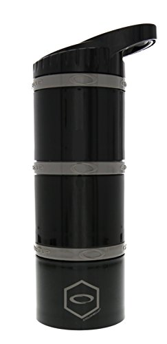 """Cyclone Cup - Shaker Bottle For Powder, Protein Shaker With Secure-Lock And Tight-Sealed Lid For """"No Leak"""" Protection Core Black"""