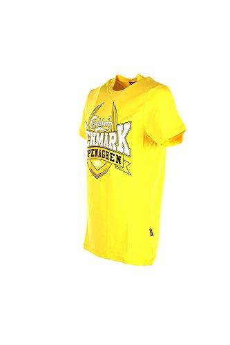 T-shirt Uomo Carlsberg XL Giallo Cbu3039 Primavera Estate 2018