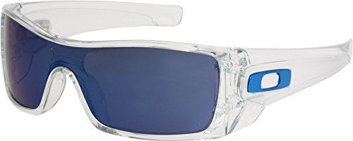 Oakley Men's Batwolf Rectangular Sunglasses,Clear Frame/Ice Iridium Lens,one - Oakley Sunglasses Clear