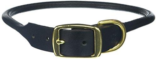 26 INCH - 1in Wide - Black - Round Leather Latigo Collars ()