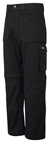 TuffStuff Castle Clothing 722 34L Endurance Zip Off Leg Knee Pad Work Trouser - Black by Tuff Stuff