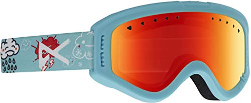 Anon Kids Tracker Goggle, HI5 Frame Red Amber ()