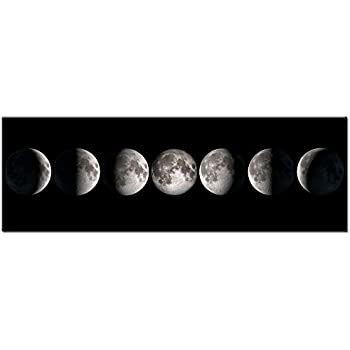 Amazon Com Phases Of The Moon Art Canvas Wall Art Prints