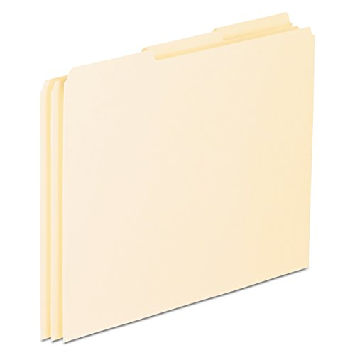 Pendaflex EN203 Top Tab File Guides, Blank, 1/3 Tab, 18 Point Manila, Letter (Box of 100)