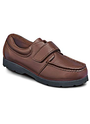 - Carol Wright Gifts Men's Velcro Strap Shoes | Men's Velcro Walking Shoes, Color Brown, Size 11 (Extra Wide), Brown, Size 11 (Extra Wide)