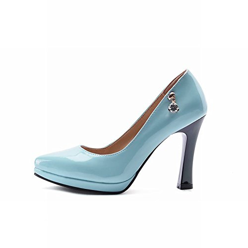 Scarpe Da Donna Con Tacco Alto In Vernice Vernice Carolbar Scarpe Blu