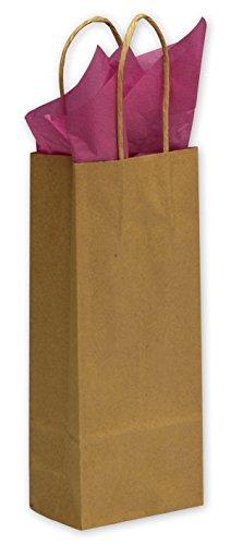 (EGP Kraft Paper Shoppers Wine 5 1/4 x 3 1/2 x 13 (Kraft-8), 250 Bags)