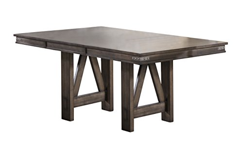Kings Brand Furniture - Lynn Brown Wood Rectangle Dining Room Table with Butterfly Extension Leaf