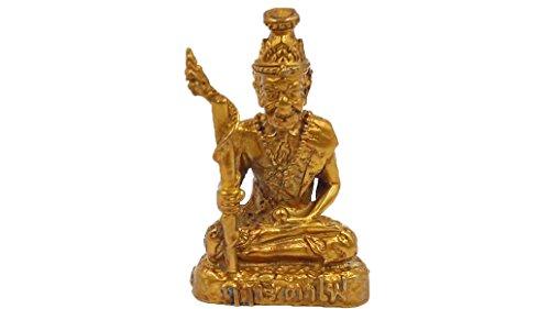 Antique Hermit (Rue Si Ta Fai) thai mini brass sculptures statue antique traditional with amulet (Thailand Traditional Costume Name)