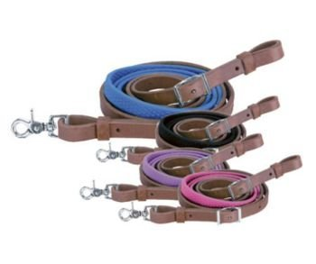 Weaver Leather Barrel Rein with Rubber - Rubber Grip Reins