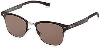 Hugo Boss Men's BOSS 0934/N/S 70 4IN Sunglasses, Matt Bw Black Brown, 53