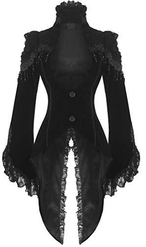 Gothic Victorian Vampire Corset Back Velvet Jacket
