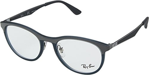 Ray-Ban Unisex 0RX7116 51mm Matte Transparent Grey/Blue One - Ray Ban Transparent Frame