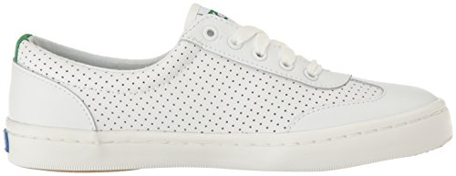 Women's Retro Leather Fashion Green Keds White Perf Tournament Court Sneaker dEnUnFqx