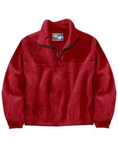 Sierra Pacific 3051 Adult Anti-pill Fleece Quarter-zip Pullover Red - (Anti Pill Fleece Pullover)