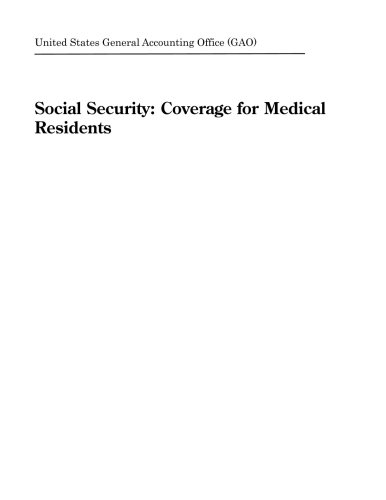 Social Security  Coverage For Medical Residents