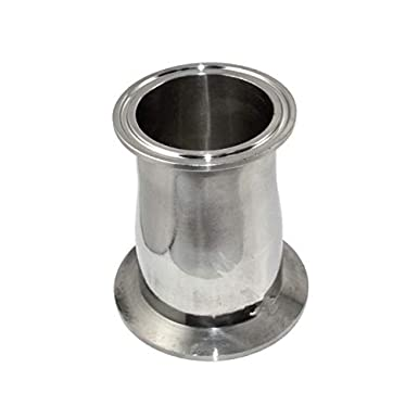 Maslin 1pcs 51mm to 76mm 51-76mm 2 to 3 2-3 304 316 Stainless Steel 304SS 316SS Sanitary Tri Clamp Ferrule Welding Style Reducer Color: 316SS