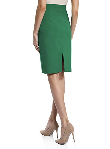 Haute 6e00n Droite oodji Jupe Collection Taille Vert Coupe Femme CqBfH