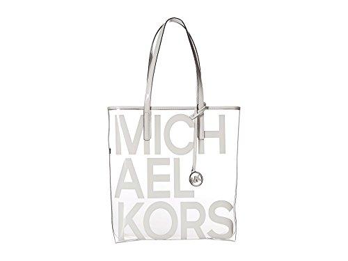 The Michael Large Graphic Logo Print Clear Tote Bag - Optic White (Clear Michael Kors Handbags)
