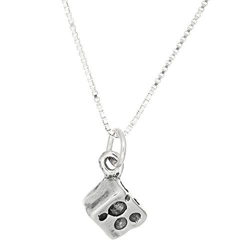 Sterlling Silver Oxidized Three Dimensional Slice of Swiss Cheese Necklace (18 Inches) ()