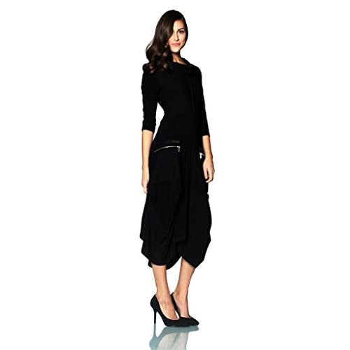 50%OFF Joseph Ribkoff Black Long Dress with Large Zipper ...