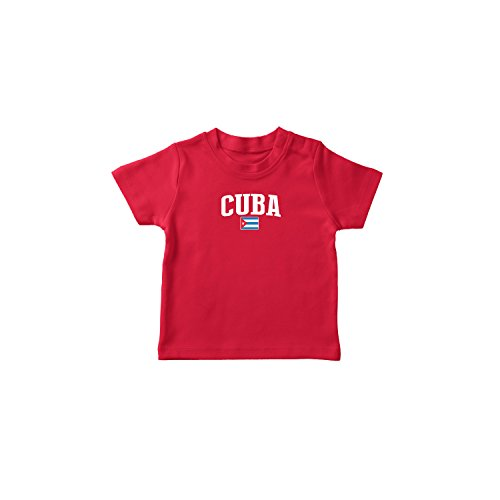 nobrand Cuba T-shirt Kids Infant Country Flag Tee World Cup Pride (Red T-shirt 4T) ()