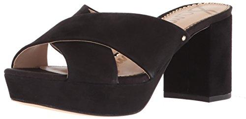 Designer Platform - Sam Edelman Women's Jayne Heeled Sandal, Black Suede, 6 M US