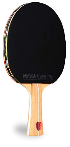 JOOLA Omega Control - Tournament Peformance Ping Pong Paddle - Table Tennis Racket for Advanced Training with Flared Handle - Includes Adapter 32 Table Tennis Rubber - Designed for Control