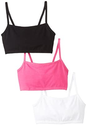 Fruit of the Loom Women's 3 pack Cotton Pullover Sportsbra