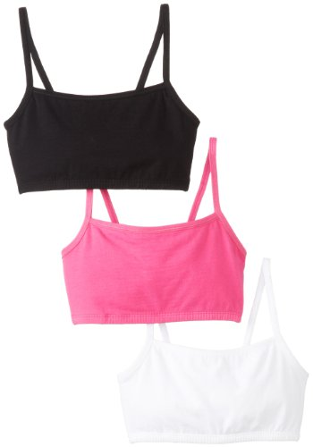 Fruit of the Loom Womens Three-Pack Cotton Pullover Sport Bra