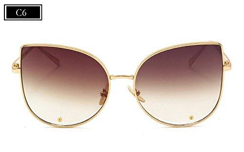 Diseñador Gafas de Alta de Aleación de F de Marco Sombras B Mujer de Mujeres Femenino Estilo Gafas Burenqi de Sol Marca Moda de Ojo Calidad Gato qAFwF