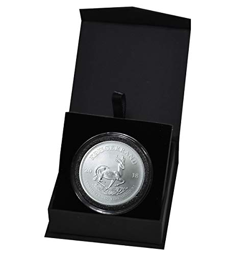 2018 ZA South African Krugerrand 1 Troy Oz Silver Bullion in Capsule and Presentation Box 1 Rand Brilliant Uncirculated ()