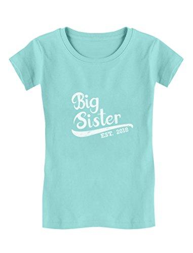 TeeStars - Big Sister Est 2018 - Sibling Gift Idea Girls Fitted Kids T-Shirt
