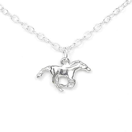Pewter Running Horse Necklace - Gift Packaged with Freedom and Journey Story Card - Made in USA