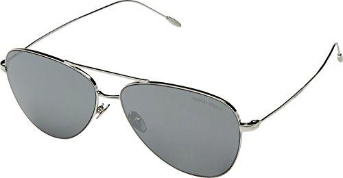 Giorgio Armani Mens Sunglasses Silver/Grey Metal - Non-Polarized - - Giorgio Armani Sunglasses