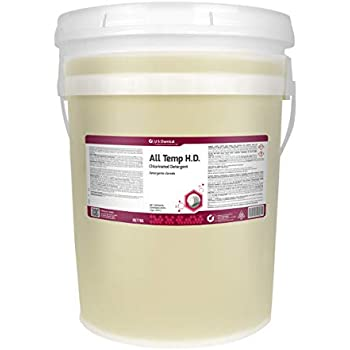 US Chemical All Temperature Heavy Duty Warewash Detergent Liquid, 5 Gallon - 1 Each.