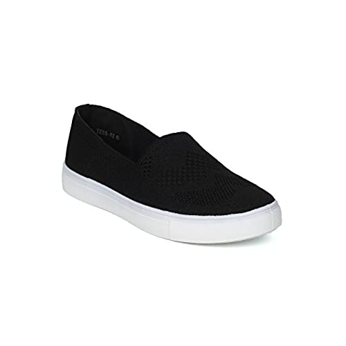 Women Knitted Fabric Low Top Slip On Sneaker - IA03 by Refresh hot sale