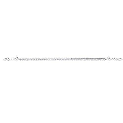 Libertini bracelet argent 925 femme serti de Diamant en forme de Bâton