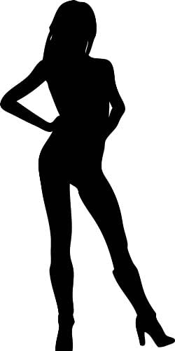 Amazon Com Sexy Women Silhouette Wall Decals Woman H S Hips