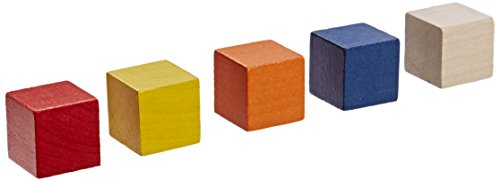 """School Specialty 282895 Wooden Cube Set, 1"""", Multiple Colors (Pack of 102)"""