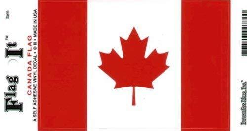 Flag It Canada Heavy Duty Vinyl Bumper Sticker (3 x 5 Inches)