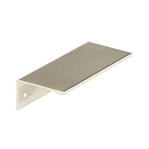 Amerock 2000852 Edge Pull 3 in (76 mm) Center-to-Center Satin Nickel Cabinet ()