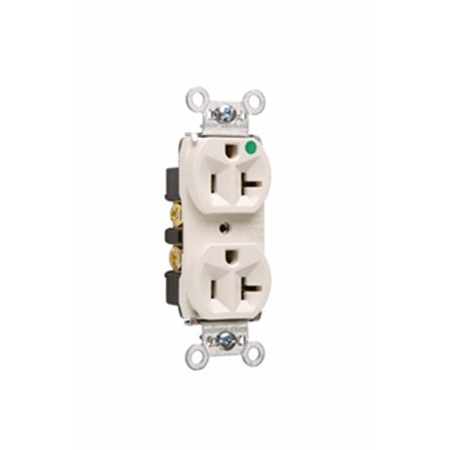 Legrand-Pass & Seymour 8300HLA TR-8300HLA - Tamper-Resistant Compact Hospital Grade Duplex Receptacle 20A 125V, Light (Pass & Seymour Compact Outlet)