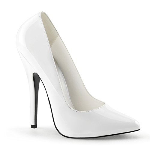 6 Inch Sexy High Heel White Shoe Classic Pump Size: 10
