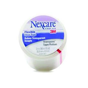 3M Nexcare Transpore Clear First Aid Tape, Transpore Clr 1-Aid indv 2X10Y, (1 BOX, 6 EACH) Indv Wrap