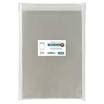 5fa84079a167 Amazon   袋の王国 OPP袋 【国産】 05T-A-4 特厚 テープ付 225x310mm 100 ...