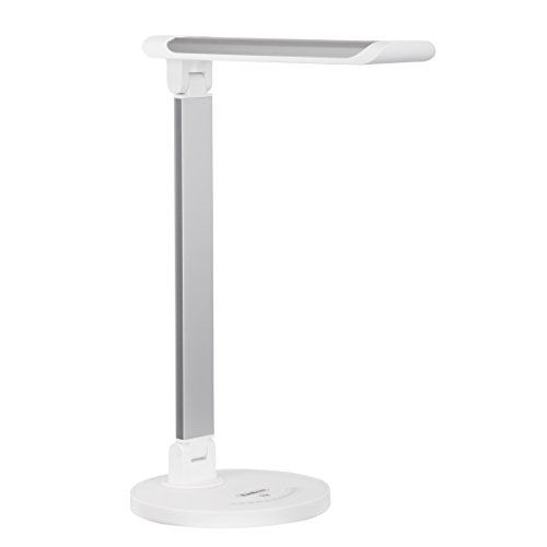 VonHaus Aluminum Folding LED Desk Lamp with USB Charger, 7 Level Dimmer,  Touch Control & Timer - College Student, Bedroom, Office, Hobby or Modern  Silver ... - Intertek Lamp: Amazon.com