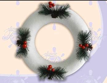 Decorazioni Natalizie Con Il Polistirolo.Due Esse Ghirlanda In Polistirolo Cm 28 Con Pigne Decorazione Natale Amazon It Casa E Cucina