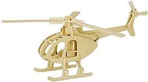احجية خشبية ثلاثية الابعاد بشكل روبوتايم هليكوبتر من العاب اينفايرونمينتال اسيمبل التعليمية