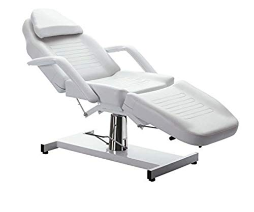 Salon Style Facial Spa Beauty Bed Adjustable Massage Salon Table Multi-function Acupuncture massage bed PU Material Hydraulic Beauty Bed in White